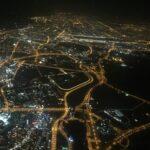 Night sky overlooking Dubai