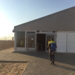 """Hello Namibia! This """"airport"""" looks more like a makeshift airport. Reminded me of the airport in Galapagos. Fun times."""