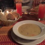 Yummy Fish soup with Guava drink as beverage of choice. Delicious!