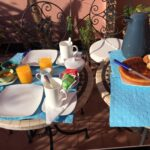 Our daily complimentary breakfast by our AirBnB host. How can you turn down freshly squeezed orange juice?