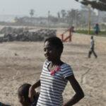 Locals enjoy the beach life