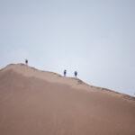 Running up sand dunes
