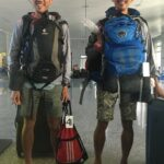 Arriving at Hami with 100lbs of luggage on each of us!