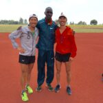 Took a photo of us with Asbel Kiprop after his 10x200m @23s. Are you serious?!? That's 11.5s for 100m!