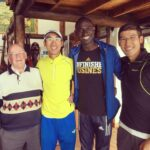 "2x Olympic Goal Medalist David Rudisha and his world famous coach ""Brother Colm"". Another #legend of the sport."