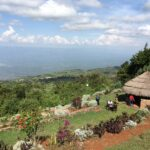 The magnificent view of the Rift Valley on a clear day.
