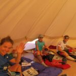 Our tent mates Rhianon, Sarah, Tom, Ann, and Muylle. Isabelle is missing from photo!