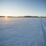 Miles and miles of running across the frozen lakes